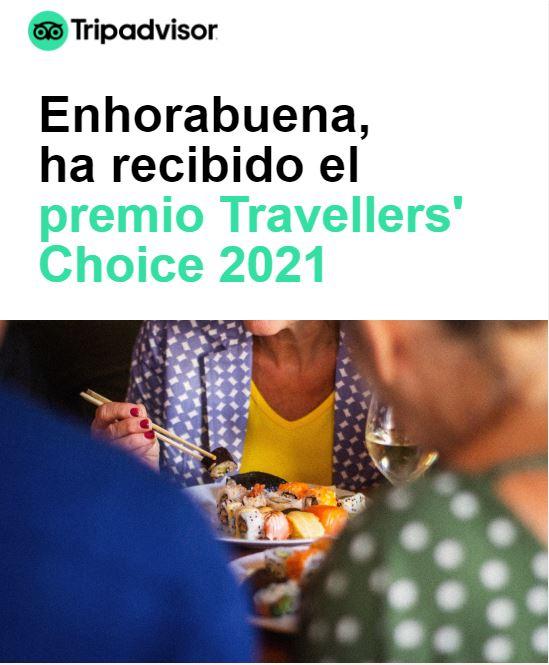 premio Travellers' Choice 2021
